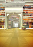 The big library with books on the floor Royalty Free Stock Photos