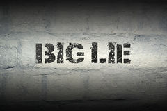 Big lie GR Royalty Free Stock Photography