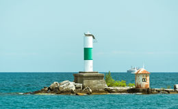 Big light house on a Michigan Lake Stock Photography