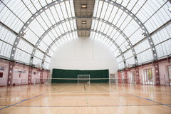 Big and light indoor tennis court Royalty Free Stock Photos