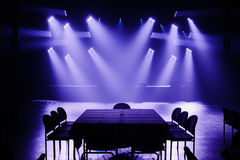 Big Light Setup Ready for a Private Show Royalty Free Stock Image