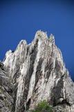 Big limestone climbing wall Stock Photo