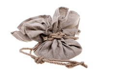 Big linen bag Royalty Free Stock Images