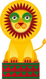Big lion in the circuson a white background. Vector Royalty Free Stock Photos