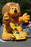 Big lion on the Tour de France Royalty Free Stock Photography