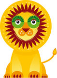 Big lion in white background. Vector Stock Images