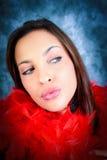 Big lips stock photo