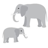 Big and little elephant Royalty Free Stock Images