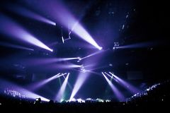 Big Live Music Concert. And with Crowd and Lights Royalty Free Stock Images