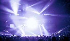 Big Live Music Concert. And with Crowd and Lights Royalty Free Stock Photos