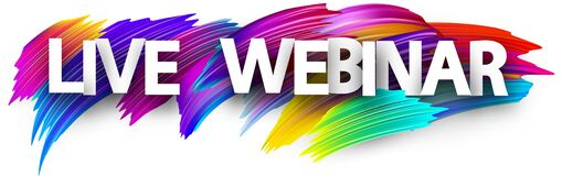 Free Big Live Webinar Paper Sign Over Brush Strokes Background Royalty Free Stock Photos - 178227088