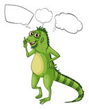 A big lizard thinking Royalty Free Stock Images