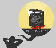 Big load on the brain Royalty Free Stock Images