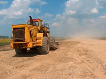 Big loader works royalty free stock photography