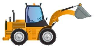 Big Loader yellow car vector design model. stock illustration