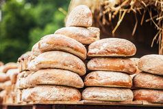 Big loaves of homemade bread Royalty Free Stock Photography