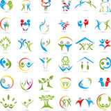 Big Logos Collection, People, Person. Large logos collection, human medical practitioner and Fitness logos Stock Photos