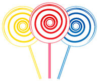 Big lollipops Royalty Free Stock Photo