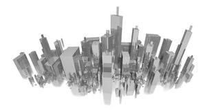 Big long city panorama Stock Illustration