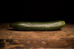 Big and long cucumber Royalty Free Stock Photo