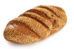 Big Long Loaf Of Rye Bread Stock Image