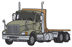 Big lorry truck. Big gray lorry truck, vector illustration, hand drawing Vector Illustration
