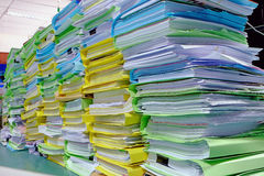 Big lot of document pile Stock Photos