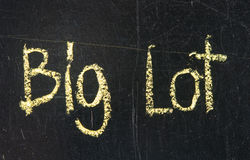 BIG LOT words Stock Photography