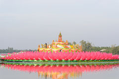Big lotus for worship Stock Photos