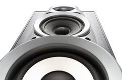 Big loud speaker bottom view Royalty Free Stock Photography