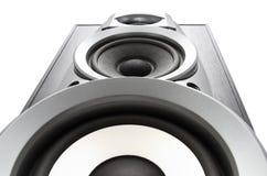Big loud speaker bottom view royalty free stock photography