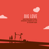 Big love on the beautiful landscape Stock Images