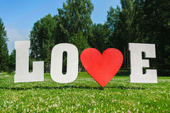 Big Love letters Royalty Free Stock Photo