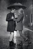 Big love among the rain drops Royalty Free Stock Images