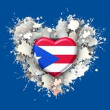 Big love to Cuba over white heart. Explosion of love towards over colorist background Stock Photo