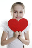 Big Loving Heart Of The Girl Royalty Free Stock Photography