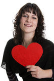 Big loving heart of the woman Royalty Free Stock Photo