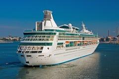 Big luxury cruise ship Stock Images