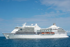 Big luxury cruise ship or liner Royalty Free Stock Images