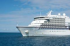 Big luxury cruise ship or liner Stock Image