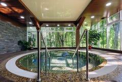 Big luxury jacuzzi tub Stock Image