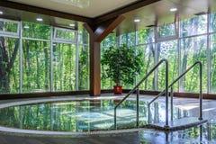Big luxury jacuzzi tub Royalty Free Stock Photo