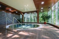 Big luxury jacuzzi tub Stock Photography