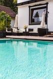 Big luxury pool lounge Royalty Free Stock Photography