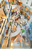 Shopping center interior architecture Royalty Free Stock Images