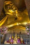Big lying buddha at Wat Pho Stock Images