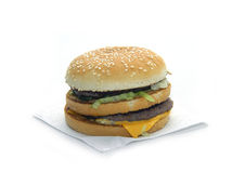 Big Mac. Digital photo,real (from a box and without advertising additions by bright salad, etc.) Big Mac royalty free stock photos