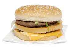 Big Mac. Digital photo,real (from a box and without advertising additions by bright salad, etc.) Big Mac stock photography