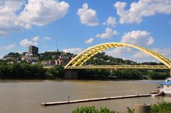 Big Mac Bridge On The Ohio River Stock Image