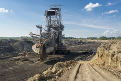Coal Mining Machine - Mine Excavator Stock Image